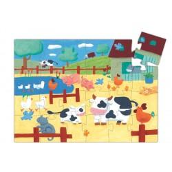 Djeco Puzzle Krówka Na Farmie