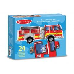 Puzzle Podłogowe Wóz strażacki