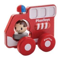 Plan Toys Drewniany Pojazd Straż Pożarna