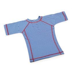 T-shirt Girl short sleeve Blue Stripes 8Y