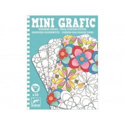 mini grafika - kolorowanie kwiatów