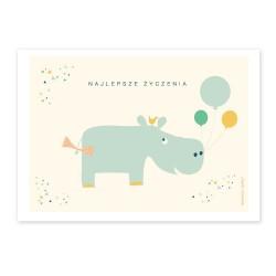 Kartka hipopotam