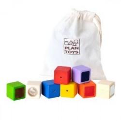 Plan Toys klocki interaktywne w woreczku