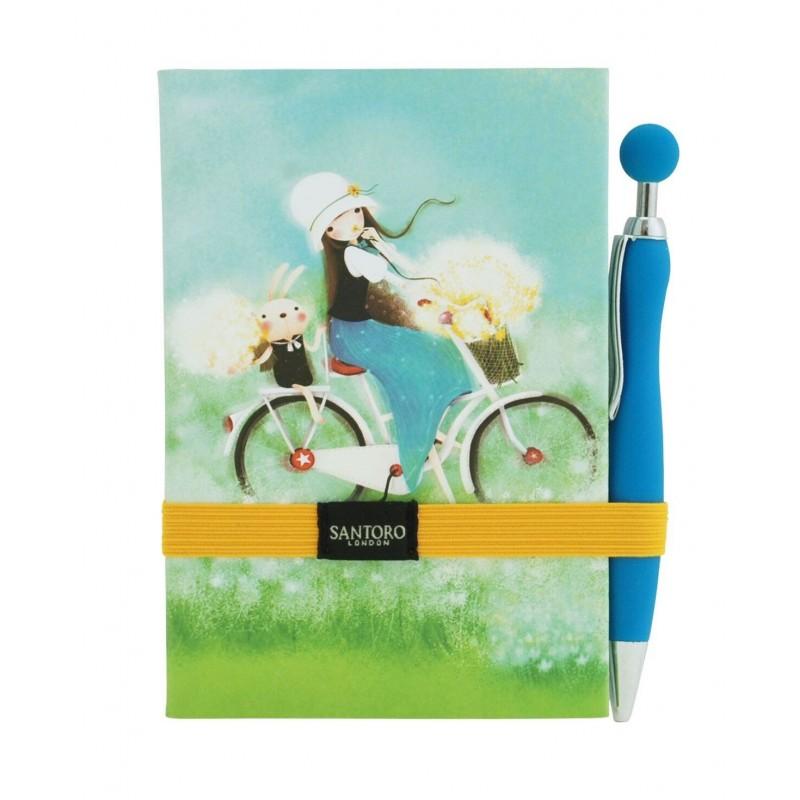 Santoro Kori Kumi - Miękki notes z długopisem  - Summertime