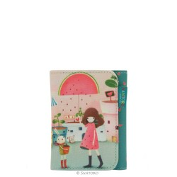 Santoro Kori Kumi portfel składany Melon Showers