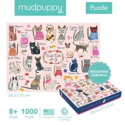 Mudpuppy Puzzle rodzinne Koty 1000el