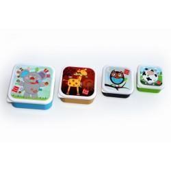 Label Label Friends Snack - pudełka na przekąski, kwadratowe 4 szt.