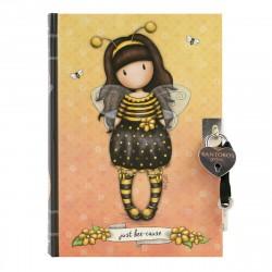 Santoro Gorjuss - Notes z Kłódką - Bee-Loved (Just Bee-Cause)