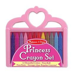 Melissa&Doug Zestaw 12 Kolorowe Kredki Księżniczka