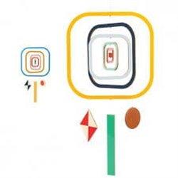 Djeco Drewniany mobil Kwadraty