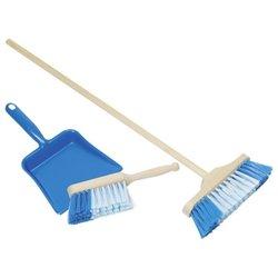 Goki Zestaw do sprzątania z miotełką, szufelką i zmiotką.