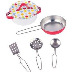 Goki Metalowe kolorowe naczynia, garnki do gotowania