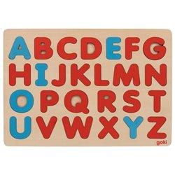 Goki Puzzle literki w stylu Montessori