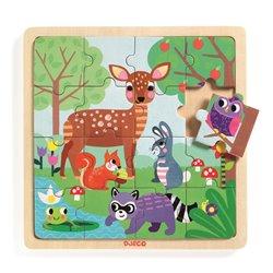 Djeco Edukacyjne puzzle drewniane LAS