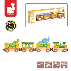 Janod Safari pociąg drewniany
